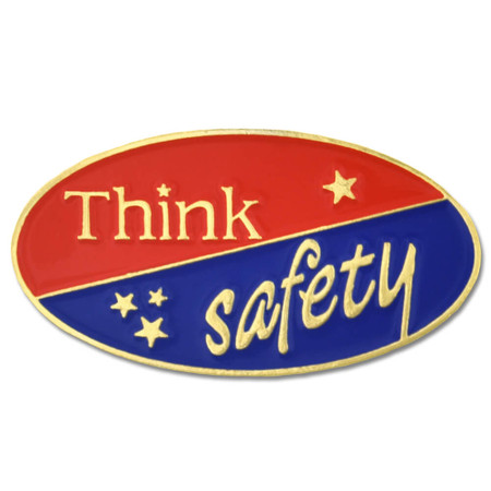 Think Safety Lapel Pin