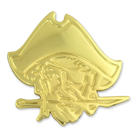 Pirates Mascot Chenille Lapel Pin Front