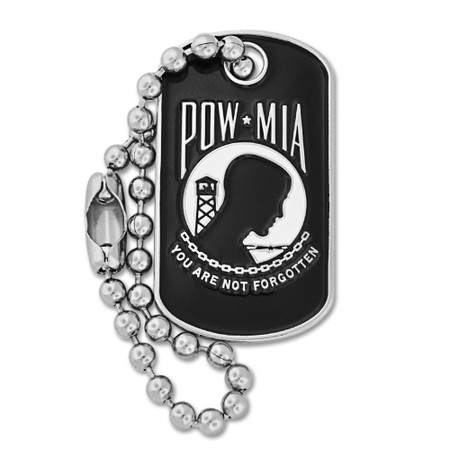 P.O.W./M.I.A. Dog Tag Pin