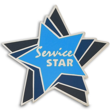 Service Star Lapel Pin Front
