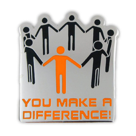 You Make A Difference Lapel Pin Front