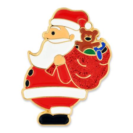 Santa with Toys Pin Front