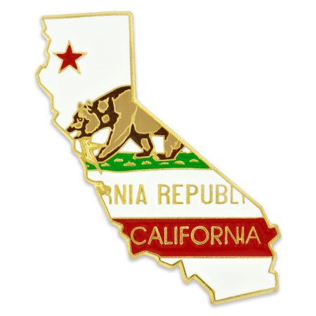 California Pin Front