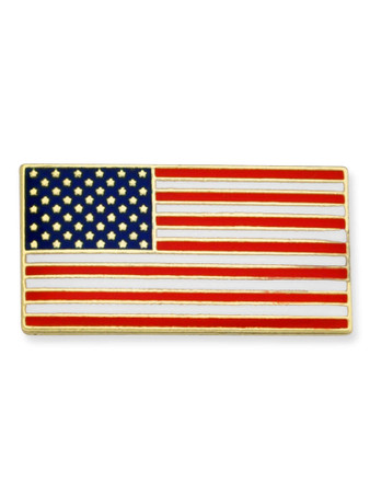 American Flag Pin Front