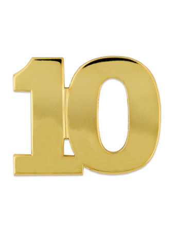 Gold 10 Pin Front