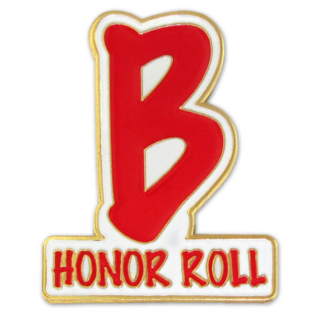 B Honor Roll Pin Front