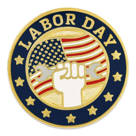 Labor Day Pin Front