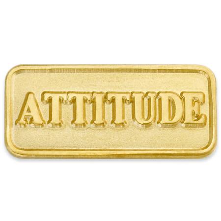 Attitude Lapel Pin Front