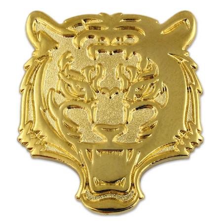 Tiger Mascot Chenille Pin Front