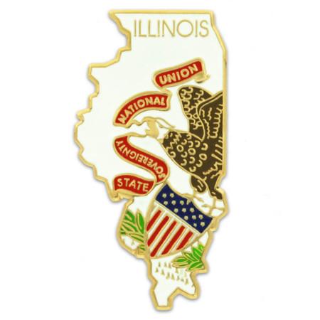 Illinois State Flag Shape Front