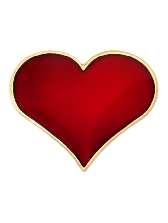 Red Heart Pin Front