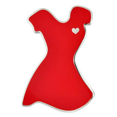 Red Dress Pin Front