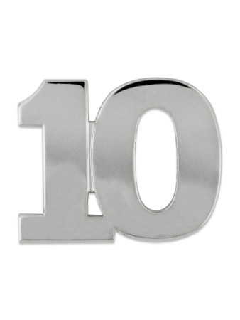 Silver 10 Pin Front