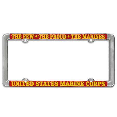 US Marine Corps License Plate Thin Frame