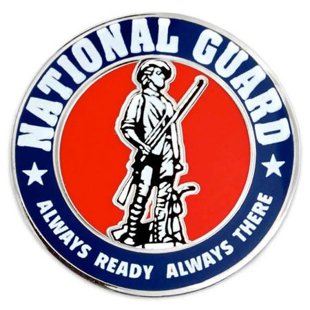 National Guard Pin Front