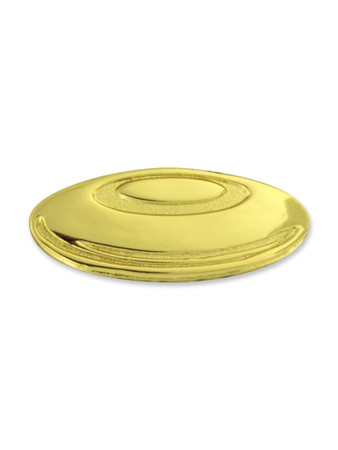 Gold Frisbee Chenille Pin Front