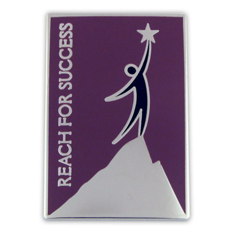 Reach For Success Lapel Pin Front