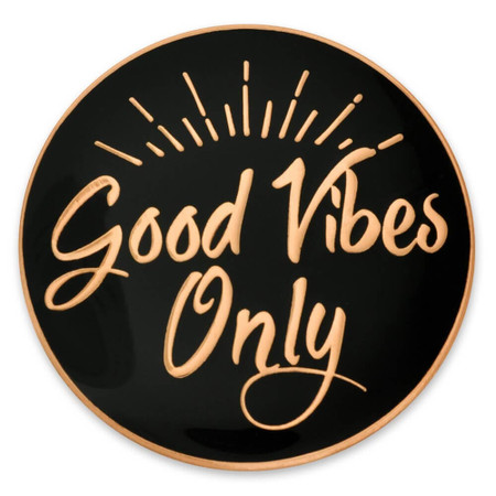 Good Vibes Only Pin Front