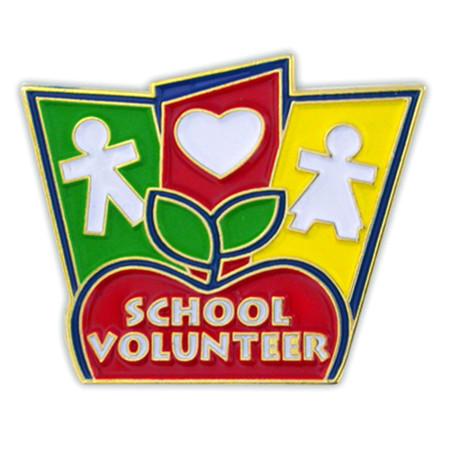School Volunteer Pin Front