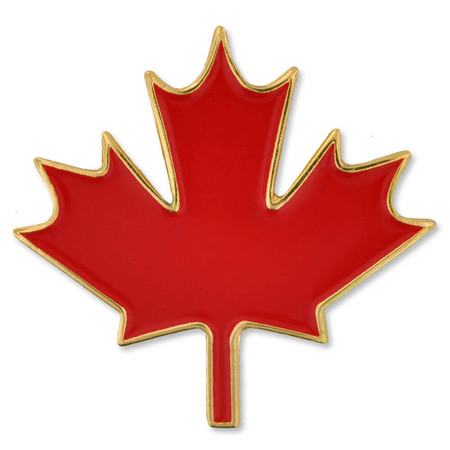 Canadian Maple Leaf Pin Front