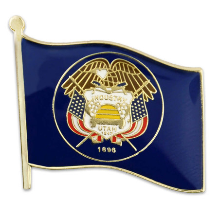 Utah State Flag Pin Front