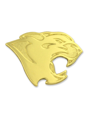 Panther Mascot Chenille Lapel Pin Front