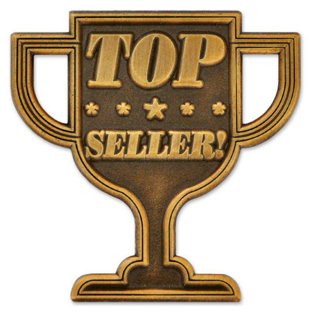 Top Seller Trophy Pin Front