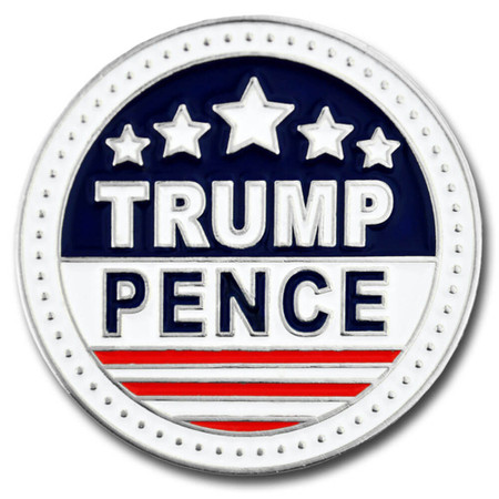 Trump and Pence Lapel Pin Front