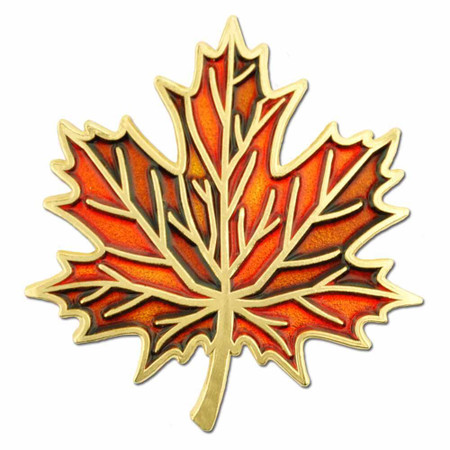 Autumn Leaf Pin Front