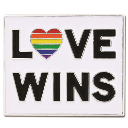 Love Wins Pin Front