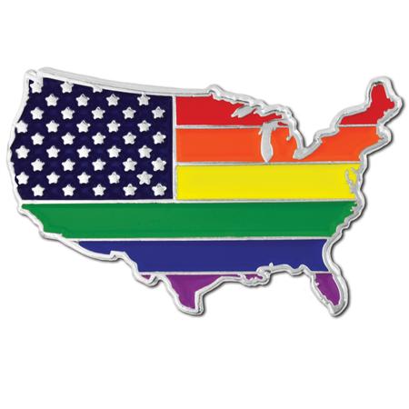 Gay Pride USA Pin Front