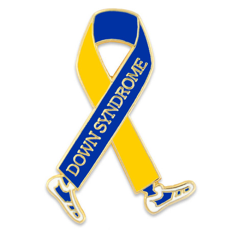 Down Syndrome Walk Ribbon Pin Front