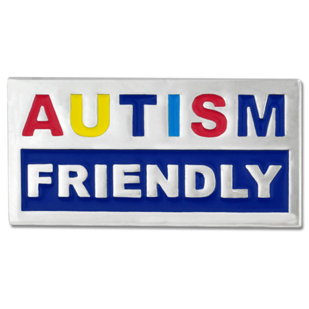 Autism Friendly Pin Front