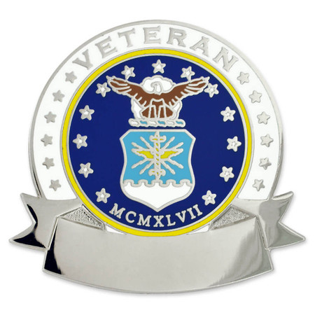 Air Force Veteran Pin - Engravable Front