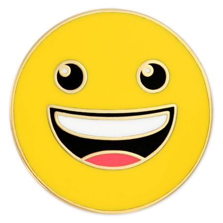 Happy Emoji Pin Front