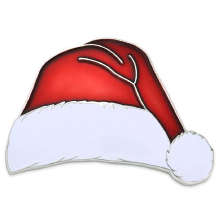 Santa Hat Lapel Pin Front