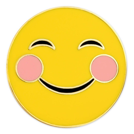 Smiley Cheeks Emoji Pin