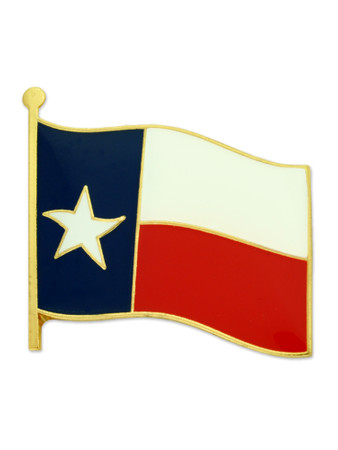 Texas State Flag Pin Front