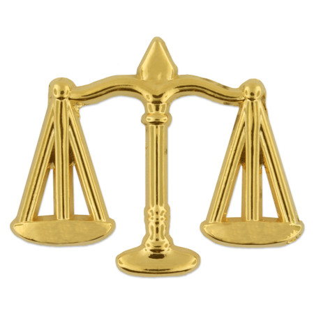 Scales of Justice Pin Front