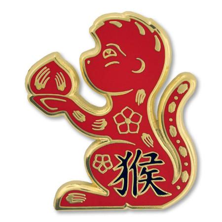 Chinese Zodiac Pin - Year of the Monkey Front