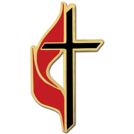 Methodist Enamel Pin Front