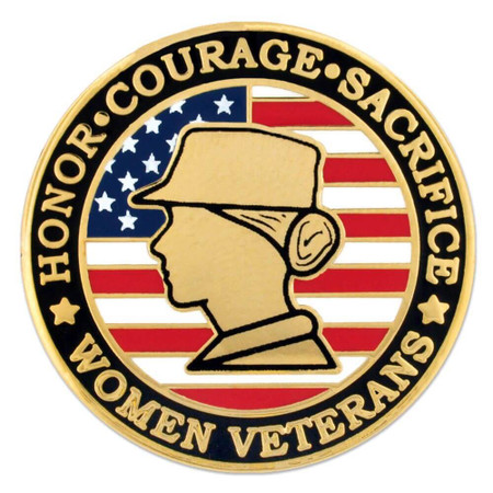 Female Veteran Pin Front