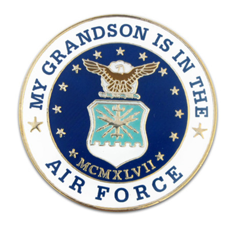 U.S. Air Force Grandson Pin Front
