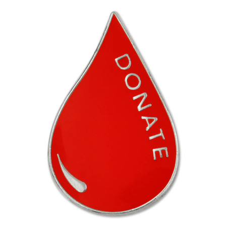 Blood Donor Pin Front