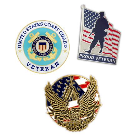 U.S. Coast Guard Veteran 3-Pin Set Main