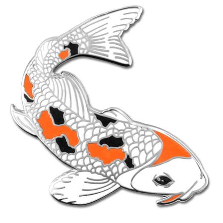 Koi Fish Lapel Pin Front