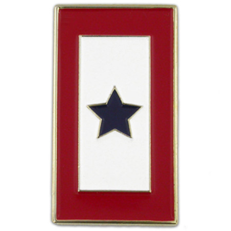 Blue Star Service Flag Pin Front