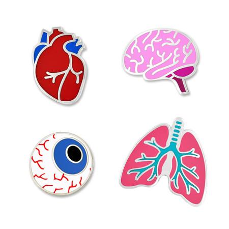 Human Organs 4-Pin Set Main