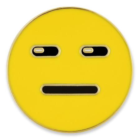Expressionless Emoji Pin Front