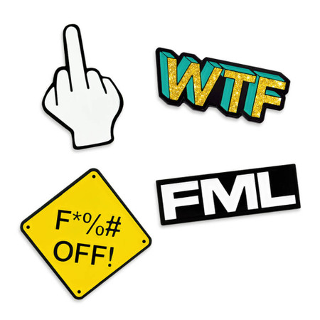 F*%# Off 4-Pin Set Front